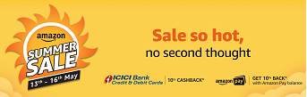 Amazon Summer sale offer | 10% flat discount on ICICI cards and Amazon Pay Balance