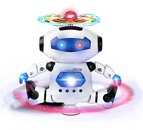 Webby Saffire Dancing Robot with 3D Lights and Music