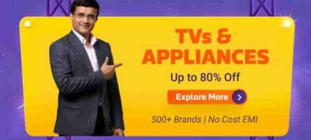 Flipkart Big Billion Days : 65% off on Home appliances.