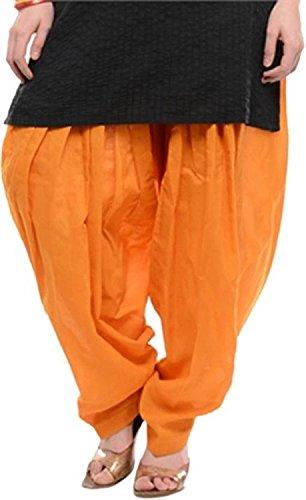 Krishna Traditional Patiala Salwar 100% Cotton Free Size-Orange