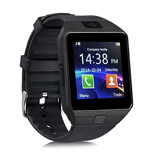 Piqancy DZ09 Smart Camera Wristwatch, Track Activity Such as: Sleep Monitor, Step Counter,Calorie Counter, Support SIM & DS Card, for All Smartphones- Black, Free Size