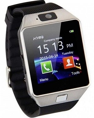Piqancy Genuine Smartwatch_Dz09_ Bluetooth Smart Watch with Camera Suitable for All 3G, 4G Phones (Silver, Black Strap)