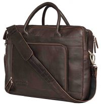 Leaderachi- VT Leather Laptop Briefcase Bag