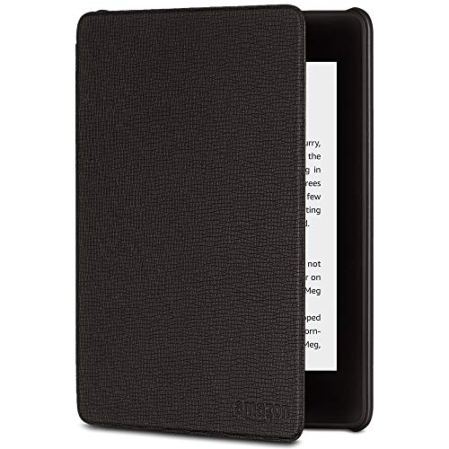 All-New Kindle Paperwhite Leather Amazon Cover (10th Gen), Black