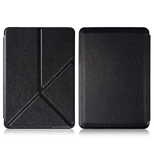 Taslar Flip Case Protective PU Leather Origami Cover with Auto Wake/Sleep for All New Amazon Kindle Paperwhite 10th Generation (Black)