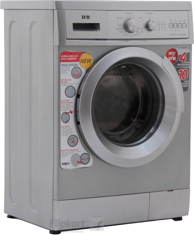 IFB 6 kg Fully Automatic Front Load with In-built Heater Silver(Elena Aqua SX LDT)